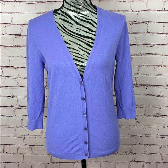 New York & Company Sweaters - New York & Company Purple Cardigan Size Large
